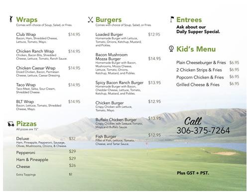 Sask Landing Golf Resort Dining